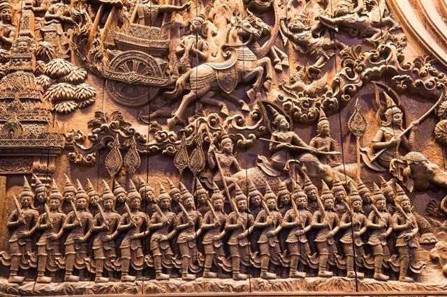 Wood Carving Mythology Character