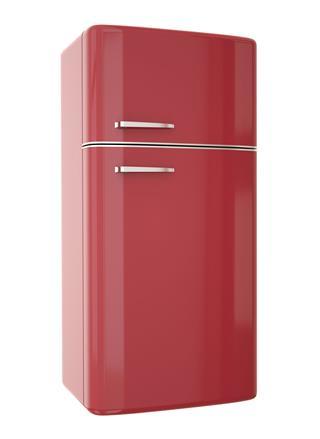 Red Retro Style Refrigerator