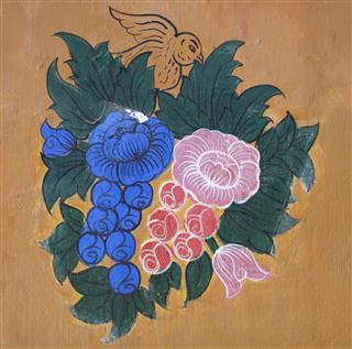 Thai Temple Mural