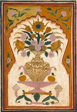 Painted Flowers Vase Amber Fort Jaipur