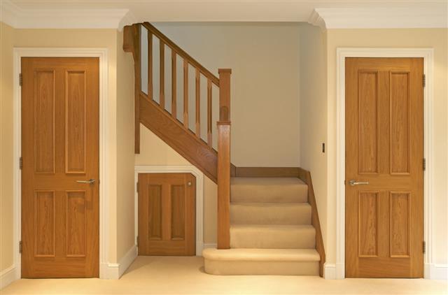 Oak Stairway And Doors