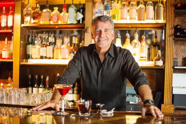 Portrait Of Confident Bartender