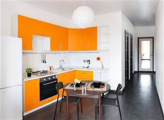 Modern Orange Kitchen