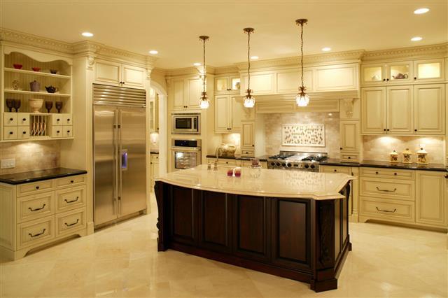 Bright Modern Kitchen In A Mansion