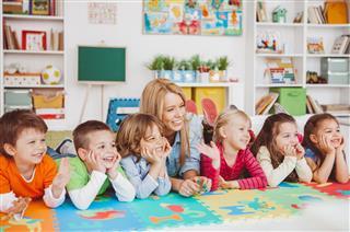 Posing With Their Teacher