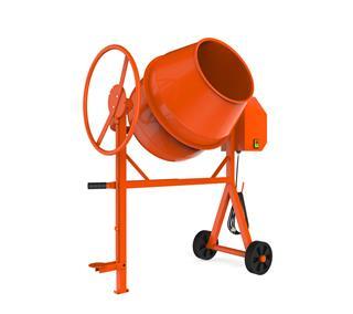 Orange Concrete Mixer