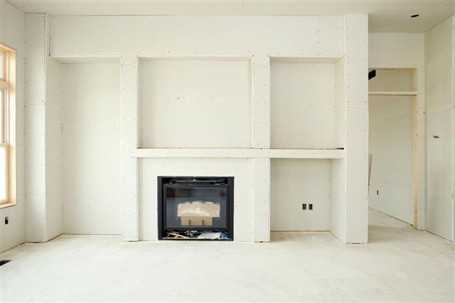 New Living Room Drywall