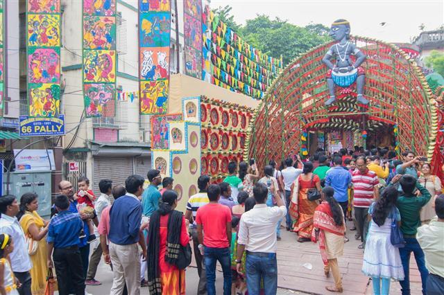 Festival At Kolkata West Bengal India
