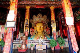 Maitreya Buddha At Thiksey Monastery