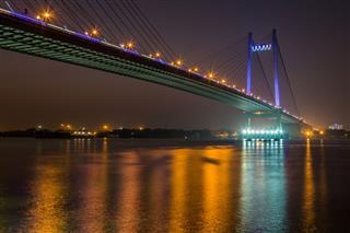 Vidyasagar Bridge On River Hooghly