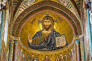Mosaic Byzantine Of Jesus