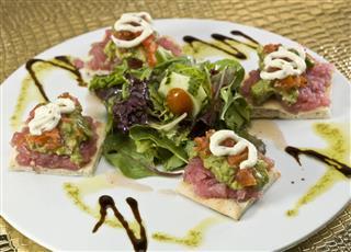 Tuna Focaccia Canapes