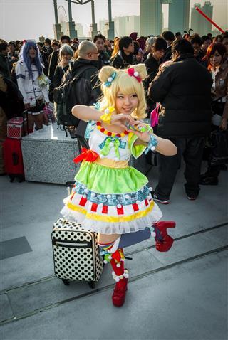 Cosplay Girl In Tokyo