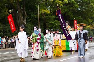 Jidai Matsuri Japanese Festival In Kyoto