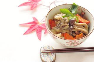 Takikomi Gohan Chicken And Mushroom Rice