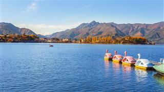 Paddle Boats At Lake Kawaguchiko
