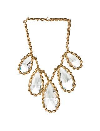 Big Diamonds Tears Gold Necklace