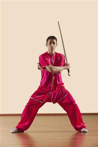 Kung Fu Jianshu Man Holding Sword