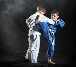 Boys Judo Fighters