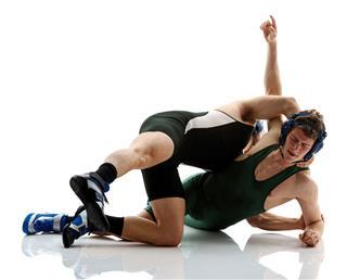 Muscular Two Wrestlers Wrestling