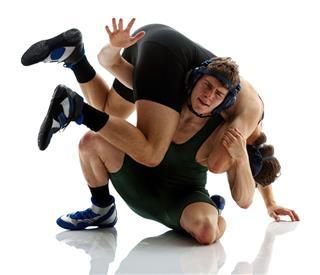 Wrestlers Wrestling