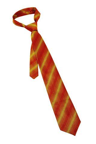 Striped Orange Necktie