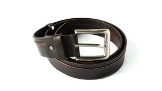 Brown Leather Men Belt
