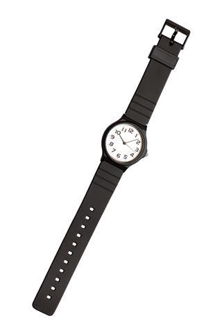 Classic Black And White Wrist Watch