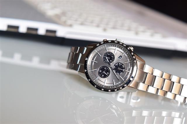 Luxury Wrist Watch On Desk