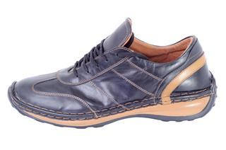 Black Leather Male Shoe