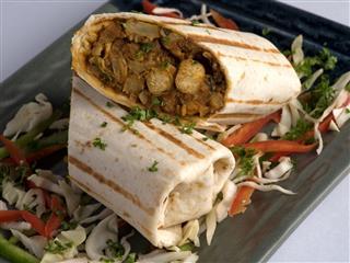 Malai Paneer Tikka Burrito