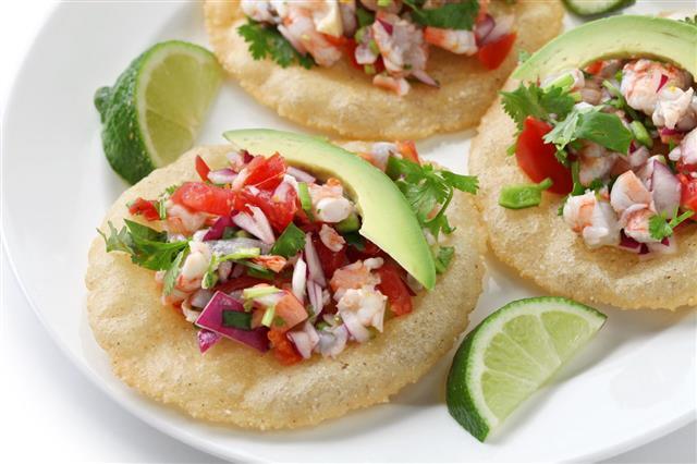 Tostadas De Ceviche Mexican Food