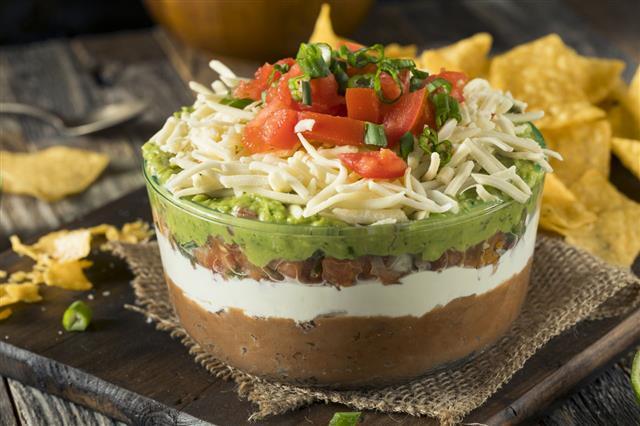 Homemade Mexican Seven Layer Dip