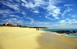 Walking On A Mexican Beach