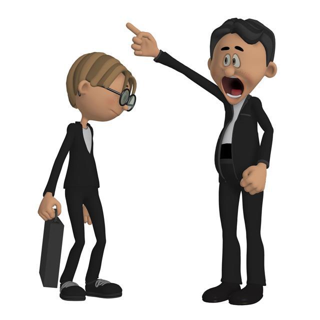 Employee with boss