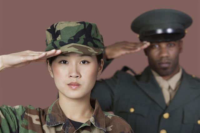 Military man women