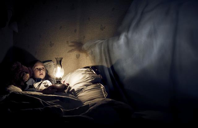 kid having a bad dream