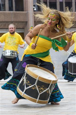 Brazilian Samba Drummer