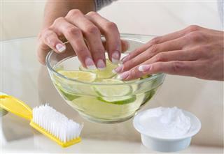 Hand Spa Manicure concept