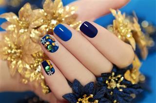 Blue lacquer