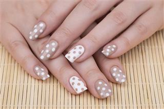 Polka Dot nail art