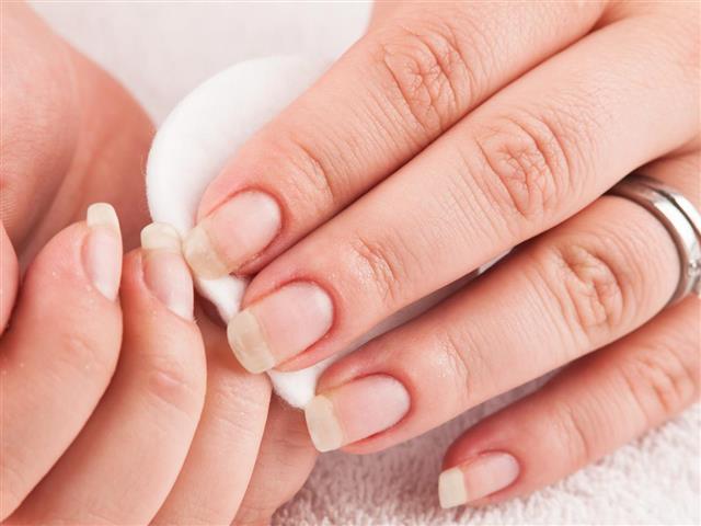 using nail remover