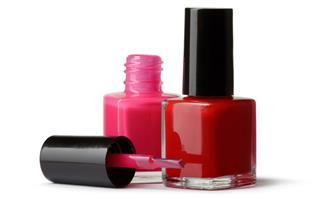 Cosmetics: Nail Polish Isolated on White Background
