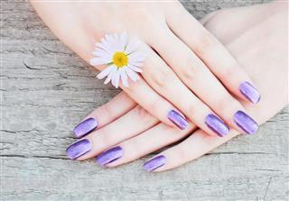 Beautiful pearl manicure