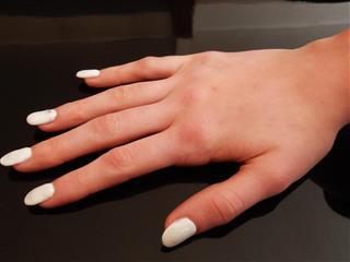 white color nails