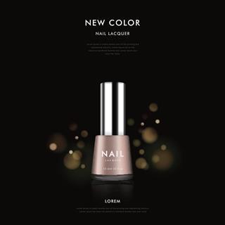 Elegant nail polish ad template