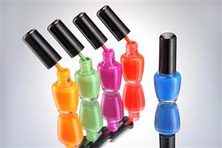 Set of nail polish  natural colors