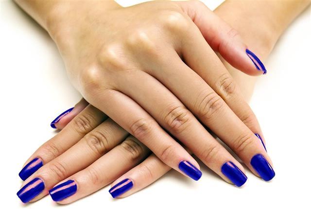 Nail Polish on Female Hands