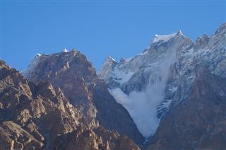 Avalanche At Mountain Near Passu