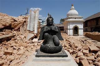 Hindu Deity From Demolished Temple